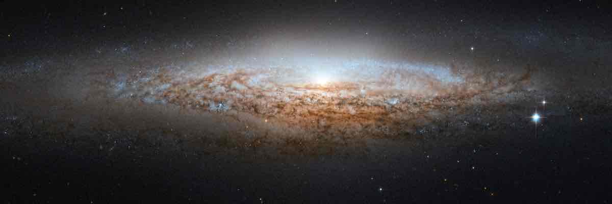 Imagen de galaxia efectuada por el telescopio espacial Hubble